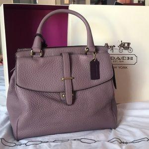 Coach lavender satchel bag